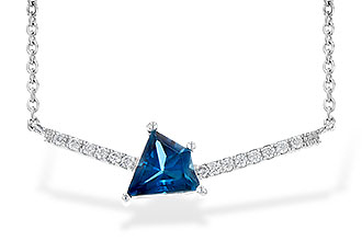 L236-34015: NECK .87 LONDON BLUE TOPAZ .95 TGW